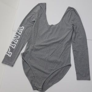 Pink Victoria's Secret long sleeved bodysuit NWT